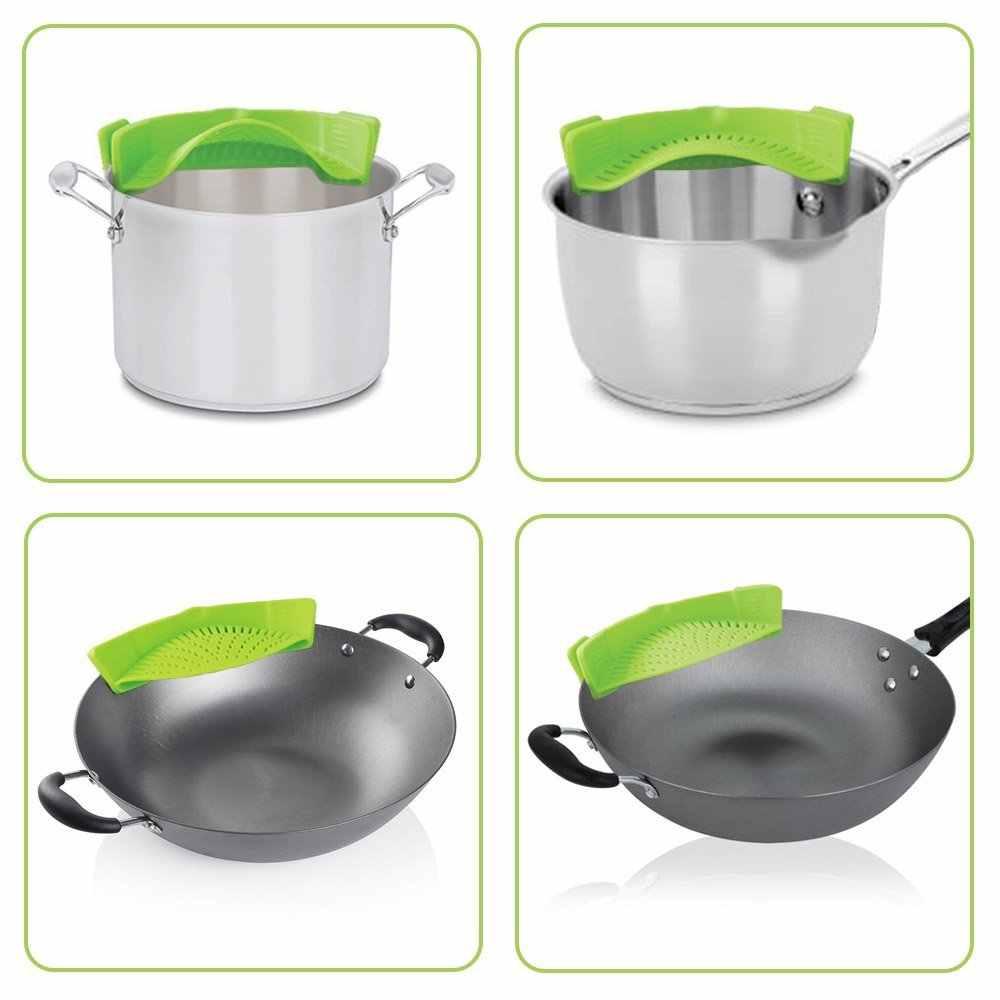 WALFOS пищевой силиконовая кастрюля для кастрюль конусная Воронка кухня промывка риса дуршлаги кухонные принадлежности гаджеты кухонные инструменты