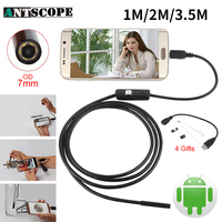 Endoskop 7mm 1M 2M 3 5M USB Android Endoscope Camera Inspection Phone Camera IP67 OTG USB