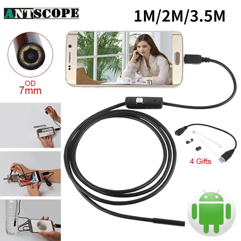 Endoskop 7mm 1M 2M 3.5M USB Android Endoscope Camera Inspection Phone Camera OTG USB Endoscoop Camera Borescope Endoscopio 5