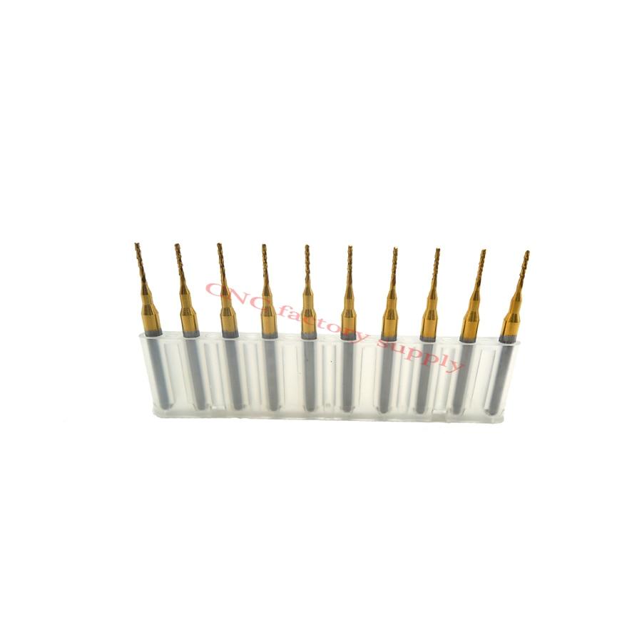 Free shipping High quality 10pcs / lot Titanium Nitride Coated Carbide PCB CNC milling cutter  0.8mm