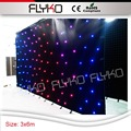 DMX function special effects free shipping 3x6m fireproof star display led curtain