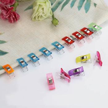 10 sztuk partia Tape Bias Maker DIY praca Foot Case Supplies plastikowe klip Hemming narzędzia do szycia akcesoria do szycia tkaniny Clover Mar tanie i dobre opinie Do ściegu krzyżowego CN (pochodzenie) Zestawy narzędzi STAINLESS STEEL