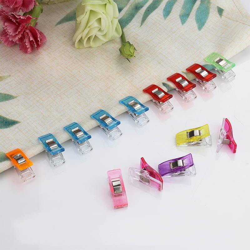 10pcs/lot Tape Bias Maker DIY Job Foot Case Supplies Plastic Clip Hemming Sewing Tools Sewing Accessories Fabric Clover Mar(China)