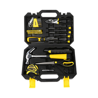 DEKOPRO 40-Piece   Hand     Tool   Set General Household   Hand     Tool   Kit with Plastic Toolbox Storage Case Hammer Plier Screwdriver Knife