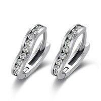Anti Allergy 925 Sterling Silver Simple Small Heart Ear Clip On Earrings Womens Earcuff Earring Fine Jewelry Brinco W6 ED032