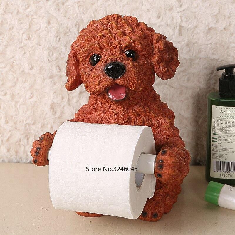 Cute desktop stand home towel rack creative toilet toilet roll holder restaurant kitchen toilet paper holder