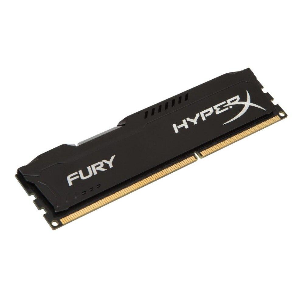 KINGSTON HyperX FURY noir 8 GB 1600 MHz DDR3 1x8 GB DDR3 1600 MHz 240-pin DIMM 1024 M x 64 Negro