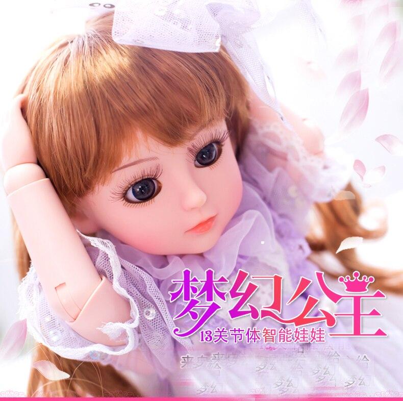 45 CM fille poupée jouets interactif parler poupée jouets reborn poupées brinquedo menina vinyle corps baigner parler et chanter princesse - 6