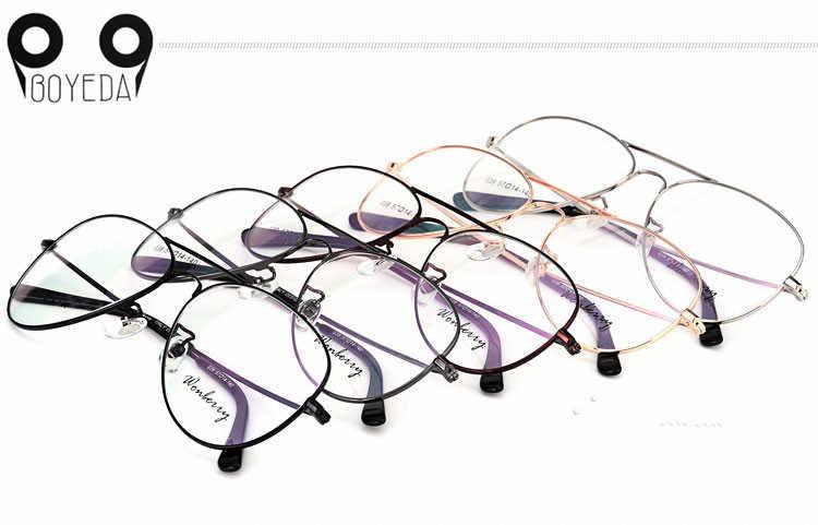 e84d34bfac1 ... BOYEDA New Fashion Oversized Brand Spectacle Frame Grade Female  Eyeglasses Women Men Round Eye Glasses Optics