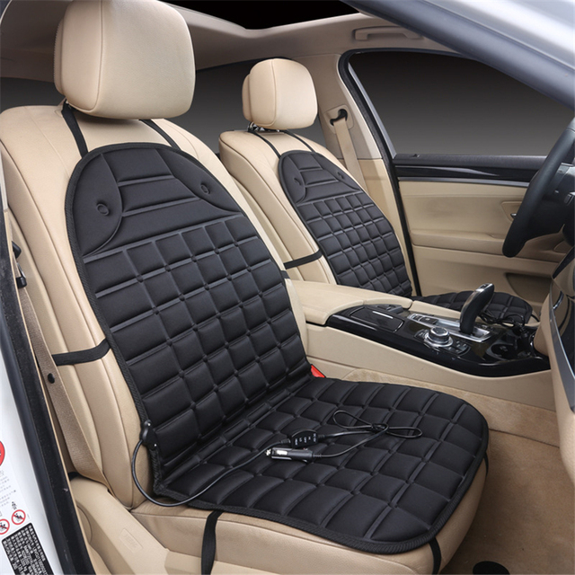 1 Pair Electric Heated Car Seat Cushion Winter Pad Covers Universal