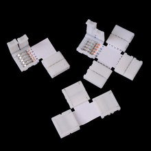 5pin Light Strips LED Strip Clip 5 pin RGBW RGBWW LED Strip Connector For 10mm width 5050 RGB+W RGB+WW(China)
