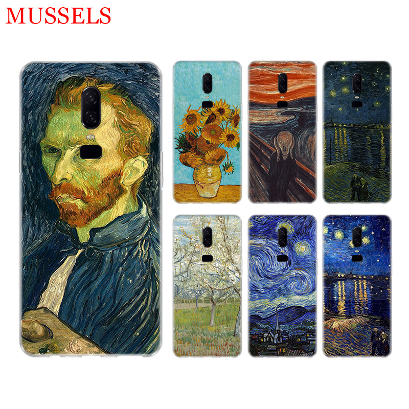Van Gogh oil painting Phone Back Case for font b OnePlus b font font b 7