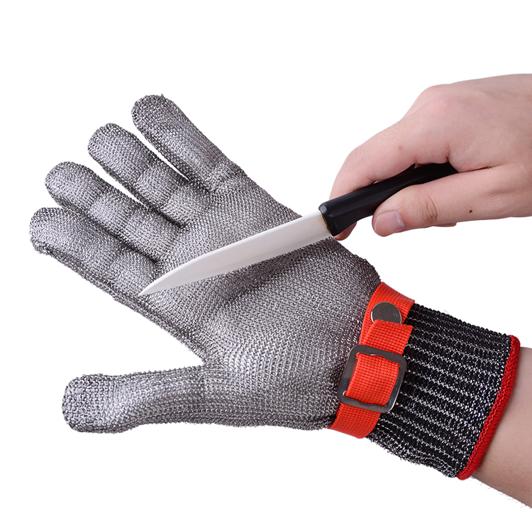 Safety Cut Proof Stab Resistant Stainless Steel Metal Mesh Butcher Gloves High Performance Level 5 Protection Gloves