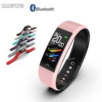 Bangwei 여성 피트니스 스마트 시계 혈압 심장 박동 모니터 블루투스 보수계 스포츠 smartwatch ip67 for iphone android
