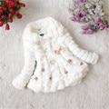 Chic Baby Princess Girls Faux Fur Fleece Winter Warm Coat Jacket Partido 1-5Y Bebé Niños Outwear