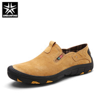 Brand Men Real Suede Leather Casual Shoes Breathable Comfort Quality Men Loafers Open Shoes Fashion Slip