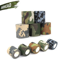 Jungle Camo Wrap 5 Roll Stretch Bandage Camping Hunting Camouflage Elastic Tape for Gun Cloths Bike straps Durable(China)