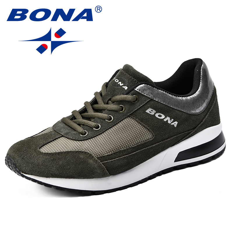 BONA New Arrival Classics Style Men Running Shoes Suede Mesh Men Sport Shoes Outdoor Jogging Shoes Comfortable Sneakers Shoes