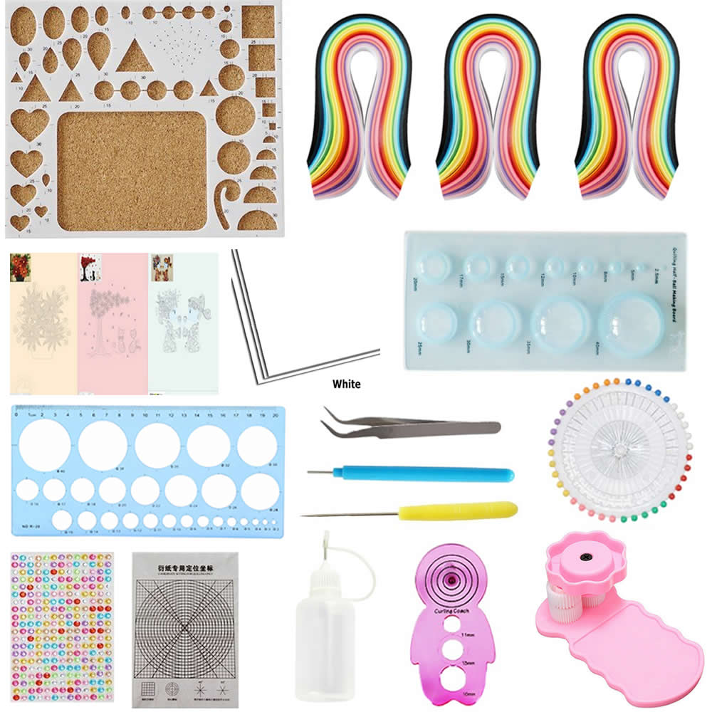 PAPER COMPLETE QUILLING KIT WITH TOOL INSTRUCTIONS BY THE SEA KD 4