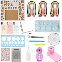 Quilling Kit & Paper Set 17pcs/set 780 Sheets Color Paper DIY Handcraft Tool Set
