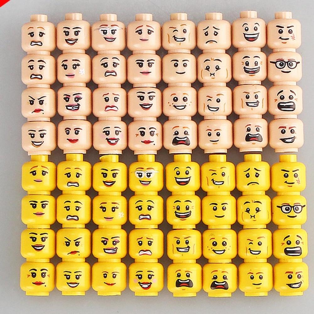 Practical Jokes Head Face Expression Diy Figures Marvel DC Suicide Squad Funny 16pcs/lot Single Bricks Figure Kids Toys Hobbies
