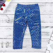 2018 Toddler Girl Pants Mermaid Kids Light Blue Fish Scale Print Long Pants Kids Clothes Girls 2 To 6 Korean Baby Clothes(China)