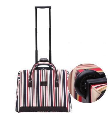 trolley bag with wheels carry on luggage Bag on wheels Rolling Luggage Bag Travel Boarding bag travel cabin luggage suitcase-in Travel Bags from Luggage & Bags    3