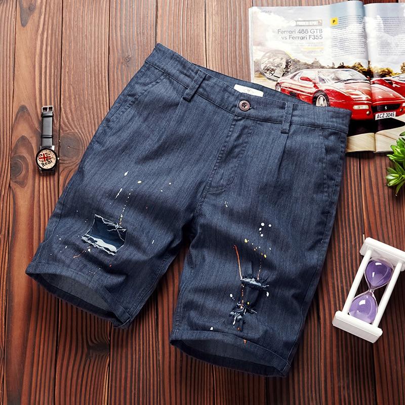 French style brand shorts men summer cotton board shorts mens casual fashion boardshort men elastic beach short male homme 39