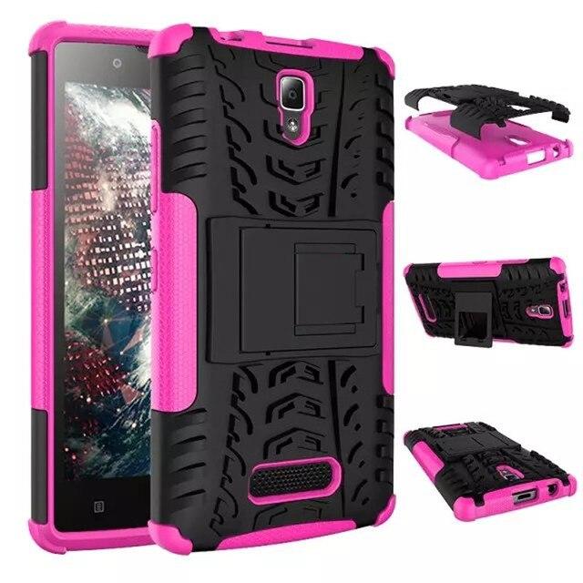 For  lenovo a2010-a a 2010 Case Luxury Hybrid TPU Silicone + Hard Case For lenovo a2010 Case Protective Back Cover Skin Bag