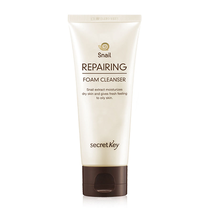 SECRET KEY  New Snail Repairing Foam Cleanser 100ml Facial Cleanser Moisturizing Oil Control Face Skin Care Face Cleanser