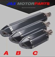 570mm 470mm 370mm Universal Inlet 51mm Akrapovic Motorcycle Exhaust Muffler Pipe Carbon Fiber Motorbike Muffler Escape