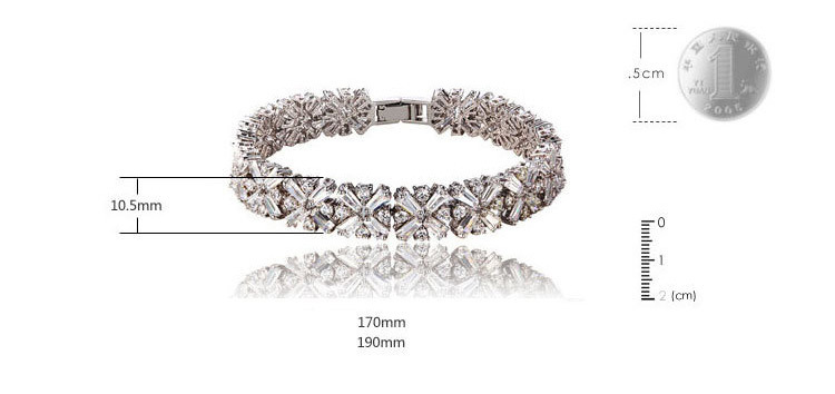 Silver Snowflake Bracelet - sizing guide