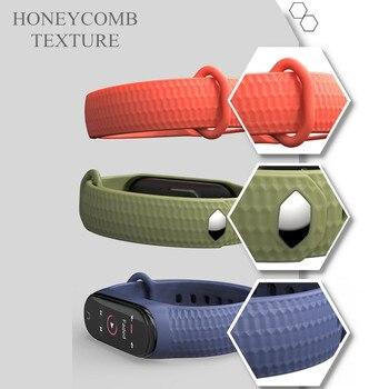 Mode mi bande 4 sangle Silicone Bracelet de poignet pour Xiao mi bande 3 sangle accessoires mi bande 3 bracelets intelligents mi bande 4 3