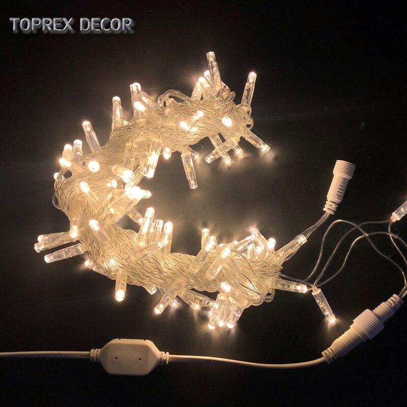 Toprex 10m Amber Lighting Led String