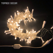 Toprex 10m amber lighting LED string christmas garland light room decor lights holiday fairy lights home decoration