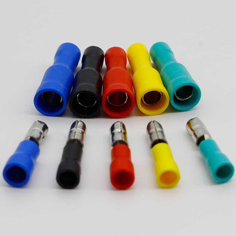 Vrouwelijke En Mannelijke Geïsoleerde Elektrische Connector Crimp Bullet Terminal Voor 22 ~ 16 Awg Audio Bedrading