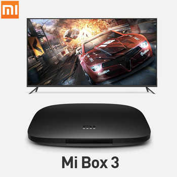International Xiaomi MI BOX 3 Android 8.0 Smart WIFI Bluetooth 4K HDR H.265 Set-top TV Box Youtube Netflix DTS IPTV Media Player