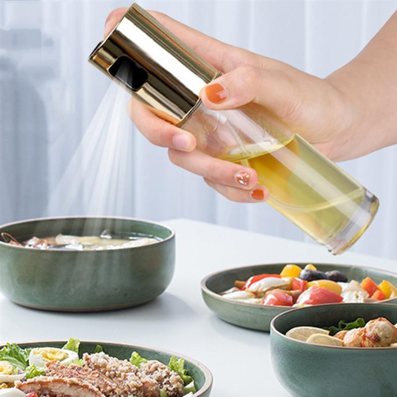 Sprayer Boats Empty-Bottles Olive-Oil Stainless-Steel Vinegar-Mist 18x4x4cm Refillable