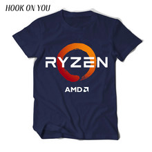 PC CP CPU Uprocessor AMD RYZEN T Shirt geek programmer tees Gaming camiseta Computer ZEN Peripherals cotton geek T-Shirt(China)