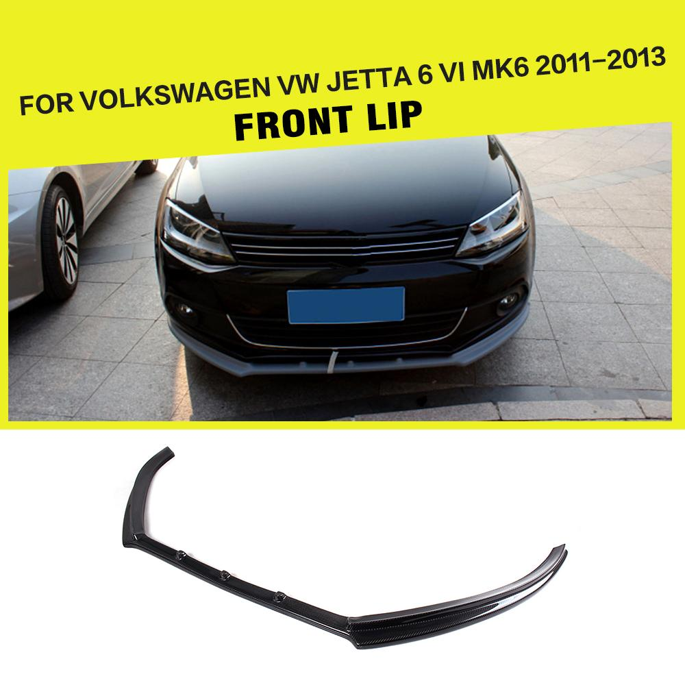 Carbon Fiber car front Lip Spoiler Head Bumper Chin For Volkswagen VW jetta 2011-2013
