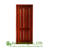 40mm Thickness Timber Veneer Door For Residential Villa Swing Type Door Inward Outward Opening Entry Door