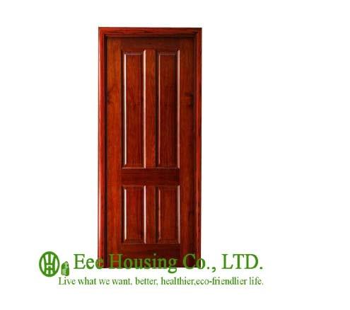 40mm Thickness Timber Veneer Door For Residential Villa Swing Type Door Inward Outward