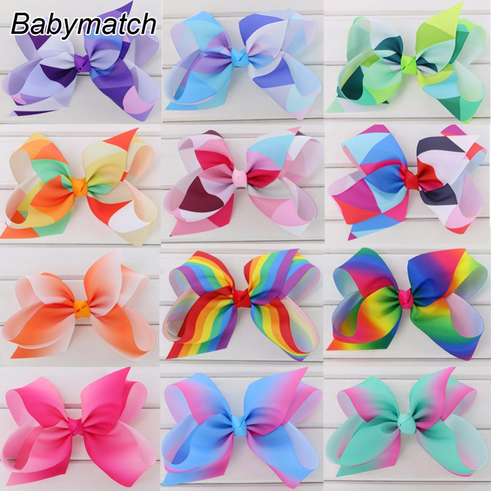 Babymatch 6 Inch Big Grosgrain Bow For Kids Teens Ribbon Hair Bows With Alligator Clips large Girls Boutique Hairbow Accessories 30 pcs lot 8 handmade solid large hair bow for girls kids grosgrain ribbon bow with clips boutique big hair accessories