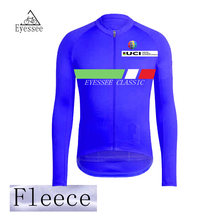 Eyesee Classic 2018 Pro Winter Thermal Fleece Cycling Jerseys Bicycle MTB  Ropa Ciclismo UCI Competition Fleece Long Sleeve 1a4c234a6