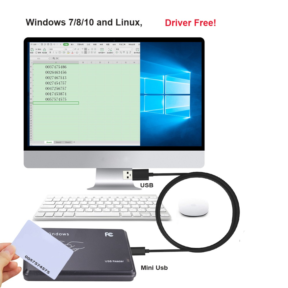 13.56Mhz Plug and Play RFID IC-lezer USB-nabijheidssensor Smart - Veiligheid en beveiliging