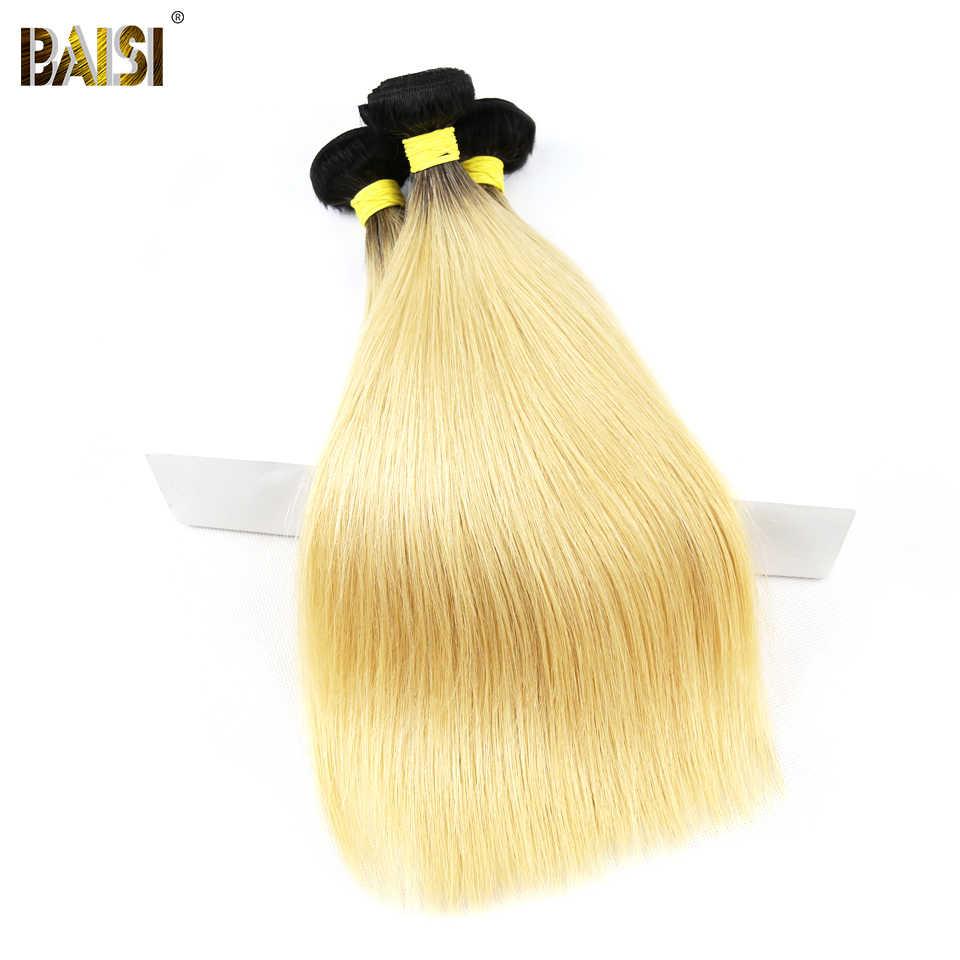 BAISI Haar Brasilianische Reine Haarwebart Gerade 1B/#613 Blonde 3 Bundles 100% Menschliches Haar