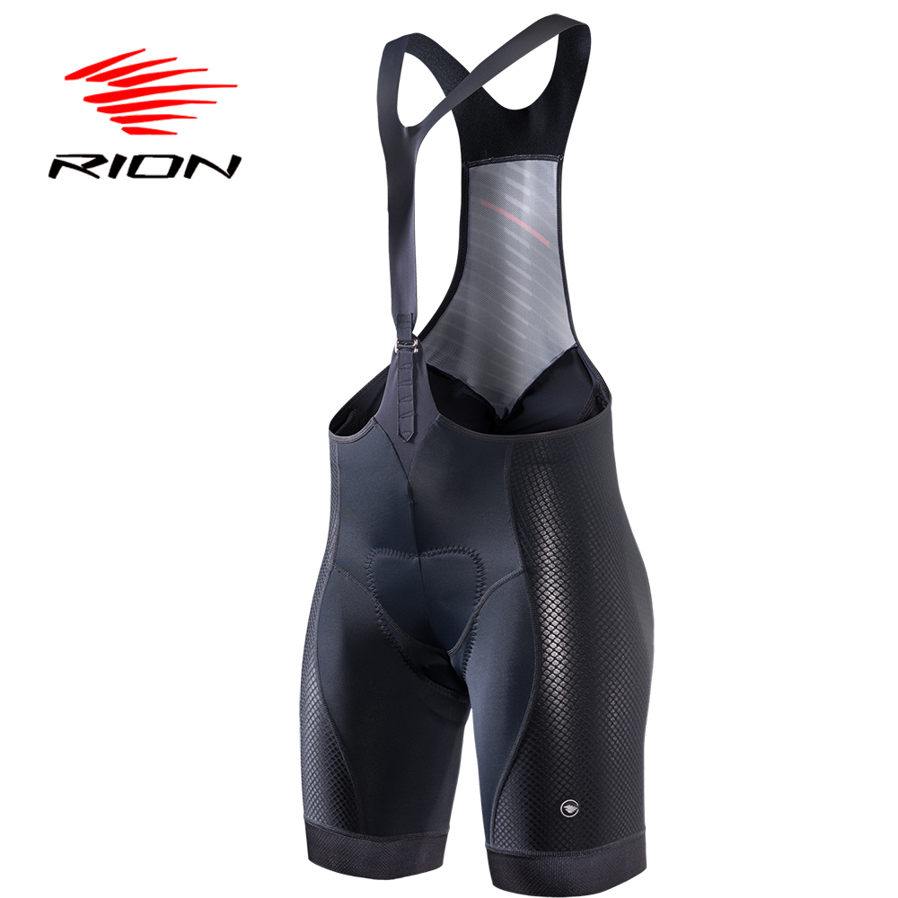 RION Cycling MTB Bib Shorts Tights Women Summer Lycra Black Jersey Gel Padded Team Pro Road