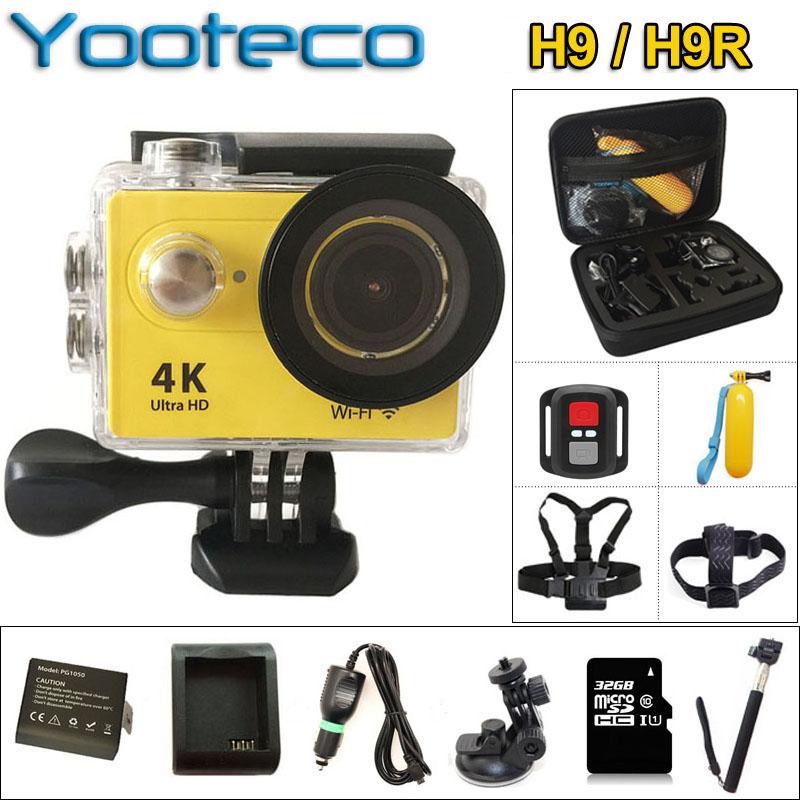 """Prix pour Original H9/H9R D'action Caméra 4 K WiFi HD 1080 P 2.0 """"LCD Sport Caméra Casque Sous-Marine mini Caméscope Cam 30 m Étanche DV"""