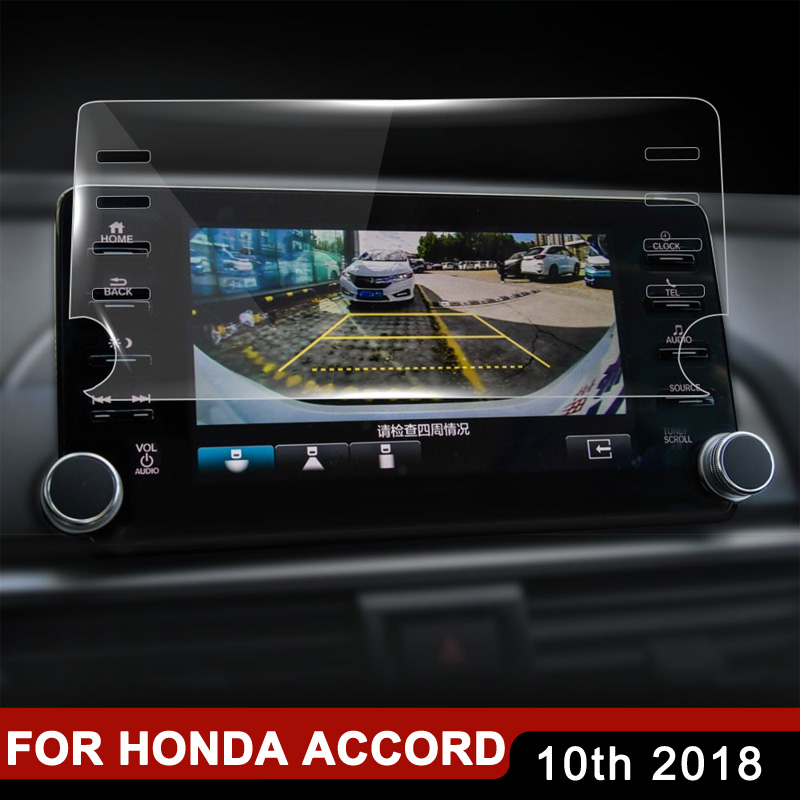 for <font><b>Honda</b></font> <font><b>Accord</b></font> 10th <font><b>2018</b></font> <font><b>Accessories</b></font> Steel Protective Film Auto Car GPS Navigation Tempered Glass Screen Protector image