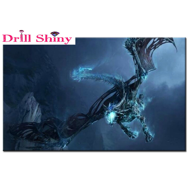 Frost dragon picture rhinestones diamond embroidery diamond frost dragon picture rhinestones diamond embroidery diamond painting mosaic pattern beads embroidery knit beadwork crafts voltagebd Choice Image